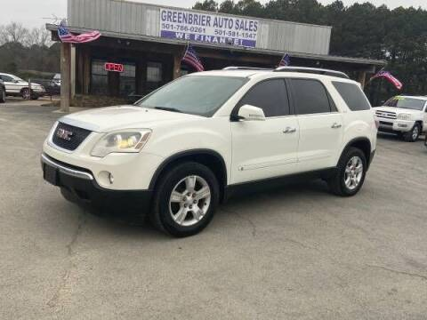2009 GMC Acadia for sale at Greenbrier Auto Sales in Greenbrier AR