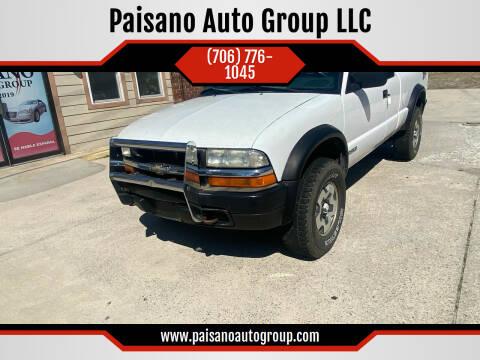 2002 Chevrolet S-10 for sale at Paisano Auto Group LLC in Cornelia GA