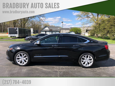 2018 Chevrolet Impala for sale at BRADBURY AUTO SALES in Gibson City IL