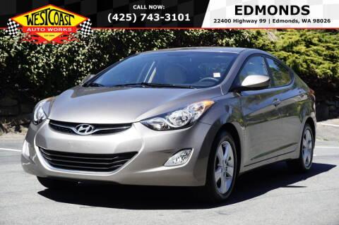 2012 Hyundai Elantra for sale at West Coast Auto Works in Edmonds WA