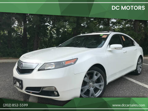 2012 Acura TL for sale at DC Motors in Springfield VA