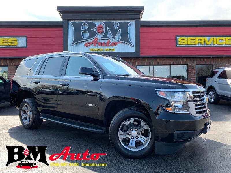 2018 Chevrolet Tahoe for sale at B & M Auto Sales Inc. in Oak Forest IL