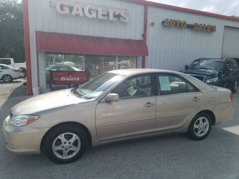 2002 Toyota Camry for sale at Gagel's Auto Sales in Gibsonton FL