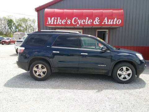 2007 GMC Acadia for sale at MIKE'S CYCLE & AUTO in Connersville IN