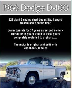 1966 Dodge D100 Pickup for sale at Classic Car Deals in Cadillac MI