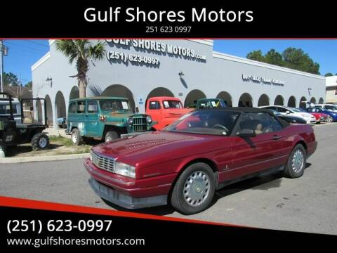 1993 Cadillac Allante for sale at Gulf Shores Motors in Gulf Shores AL