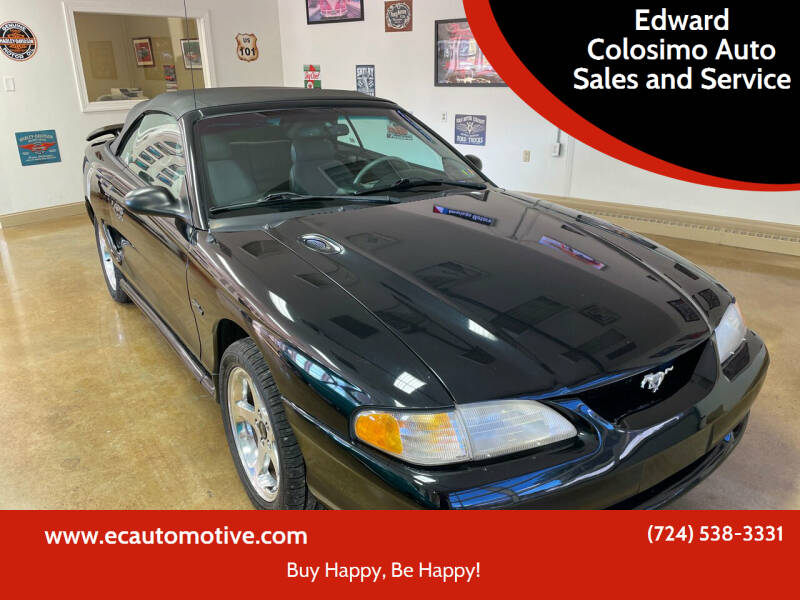 1996 Ford Mustang for sale at Edward Colosimo Auto Sales and Service in Evans City PA