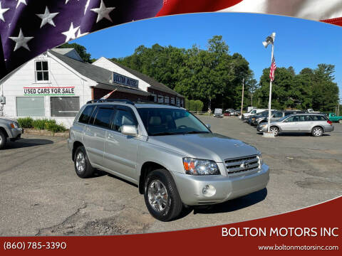 2004 Toyota Highlander for sale at BOLTON MOTORS INC in Bolton CT