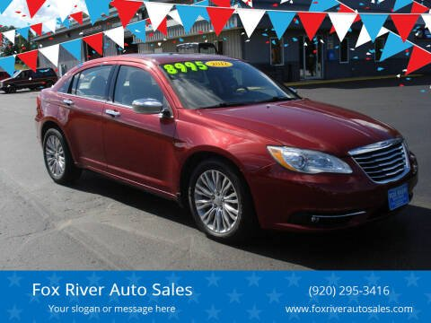 2012 Chrysler 200 for sale at Fox River Auto Sales in Princeton WI