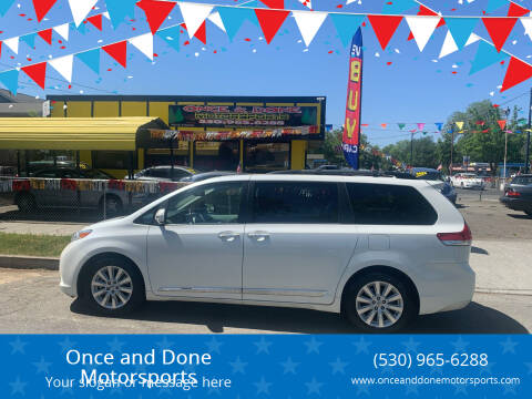 2013 Toyota Sienna for sale at Once and Done Motorsports in Chico CA