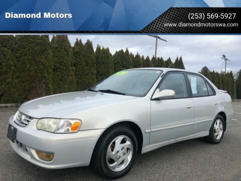 2001 Toyota Corolla for sale at Diamond Motors in Lakewood WA