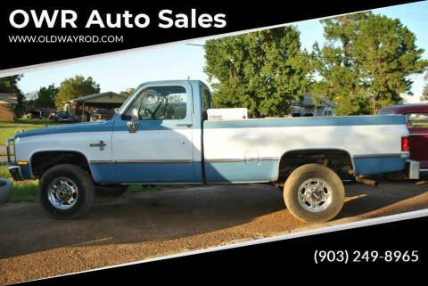 1984 Chevrolet C/K 20 Series for sale at OWR Auto Sales in Paris TX
