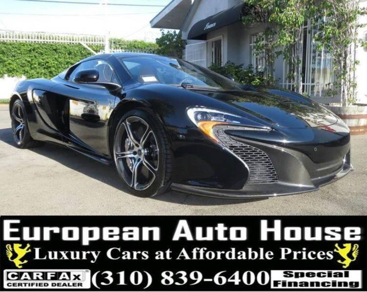 2015 McLaren 650S Spider for sale at European Auto House in Los Angeles CA