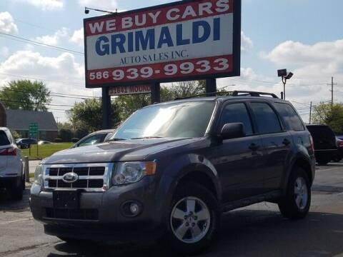 2011 Ford Escape for sale at Grimaldi Auto Sales Inc in Warren MI