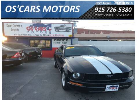 2005 Ford Mustang for sale at Os'Cars Motors in El Paso TX
