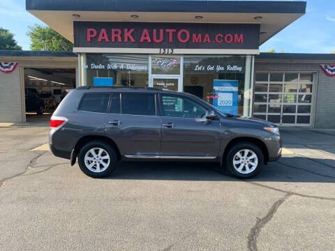 2012 Toyota Highlander for sale at Park Auto LLC in Palmer MA