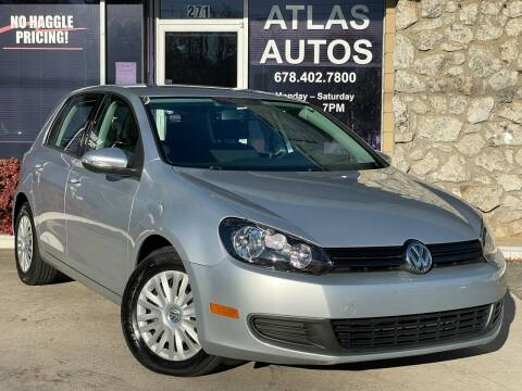 2012 Volkswagen Golf for sale at ATLAS AUTOS in Marietta GA