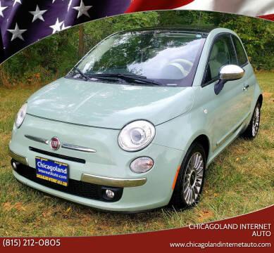 2012 FIAT 500 for sale at Chicagoland Internet Auto - 410 N Vine St New Lenox IL, 60451 in New Lenox IL