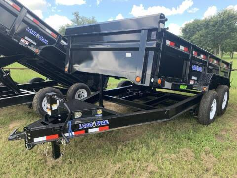 2021 Load Trail DT8314 83X14 14K DUMP 2' SIDES for sale at The Trailer Lot in Hallettsville TX