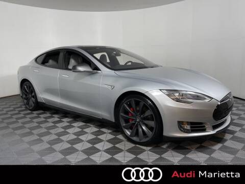 2015 Tesla Model S for sale at CU Carfinders in Norcross GA