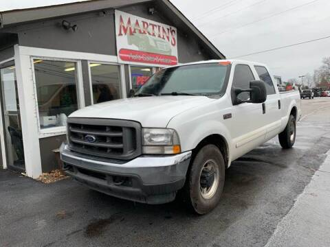 2002 Ford F-250 Super Duty for sale at Martins Auto Sales in Shelbyville KY
