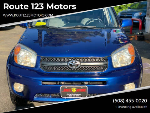 2004 Toyota RAV4 for sale at Route 123 Motors in Norton MA