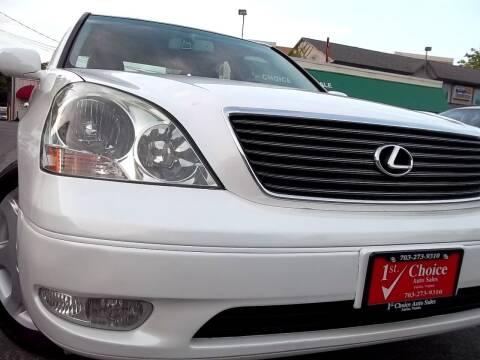 2001 Lexus LS 430 for sale at 1st Choice Auto Sales in Fairfax VA