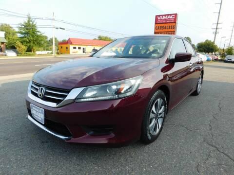 2013 Honda Accord for sale at Cars 4 Less in Manassas VA