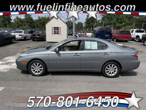 2002 Lexus ES 300 for sale at FUELIN FINE AUTO SALES INC in Saylorsburg PA