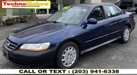 2002 Honda Accord for sale at Techno Motors in Danbury CT
