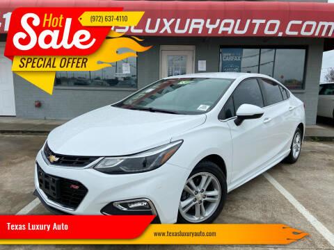 2017 Chevrolet Cruze for sale at Texas Luxury Auto in Cedar Hill TX