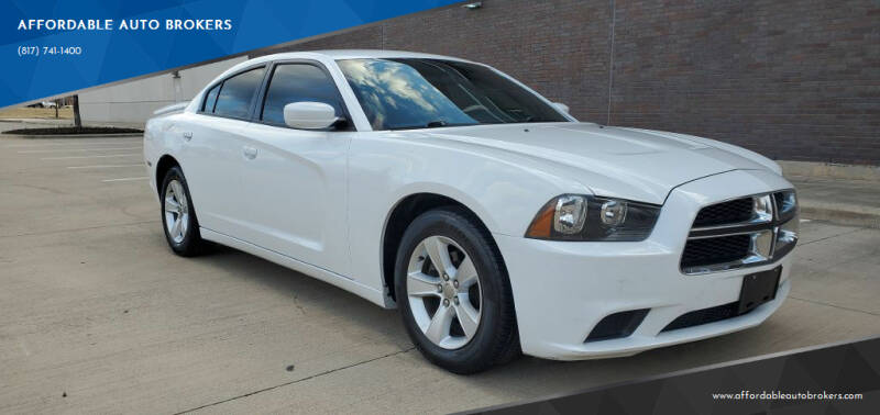 2013 Dodge Charger for sale at AFFORDABLE AUTO BROKERS in Keller TX