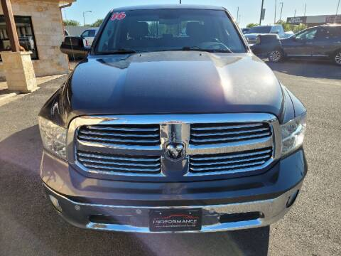 2016 RAM Ram Pickup 1500 for sale at Performance Motors Killeen Second Chance in Killeen TX
