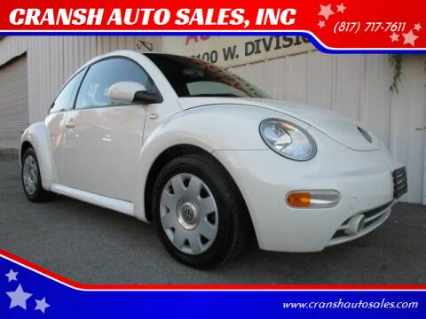 2002 Volkswagen New Beetle for sale at CRANSH AUTO SALES, INC in Arlington TX
