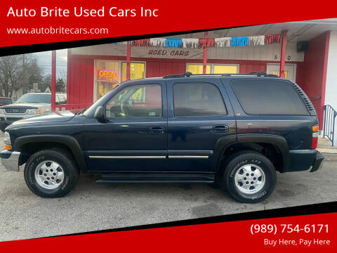 2005 Chevrolet Tahoe for sale at Auto Brite Used Cars Inc in Saginaw MI