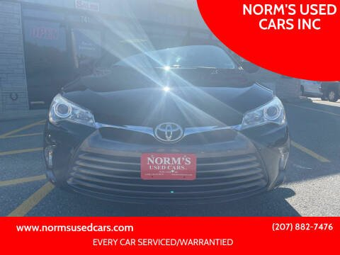 2016 Toyota Camry for sale at NORM'S USED CARS INC in Wiscasset ME