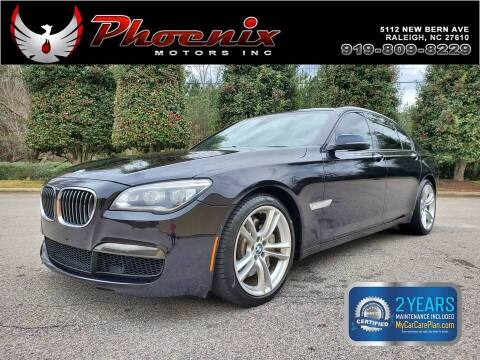 2013 BMW 7 Series for sale at Phoenix Motors Inc in Raleigh NC