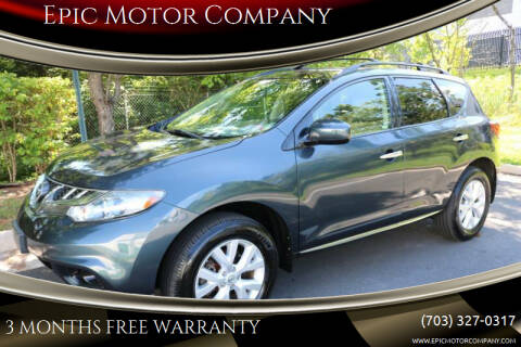 2013 Nissan Murano for sale at Epic Motor Company in Chantilly VA