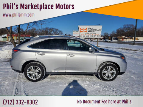 2010 Lexus RX 450h for sale at Phil's Marketplace Motors in Arnolds Park IA