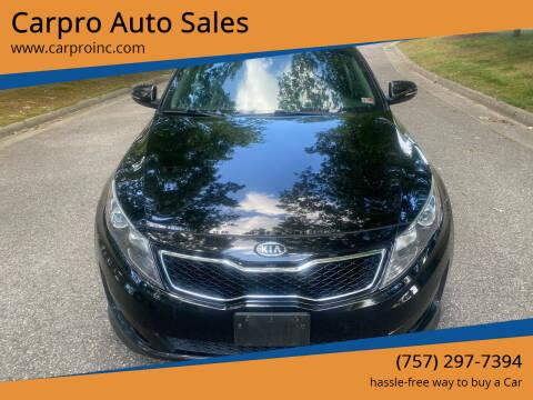 2012 Kia Optima for sale at Carpro Auto Sales in Chesapeake VA