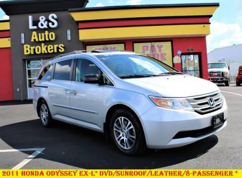 2011 Honda Odyssey for sale at L & S AUTO BROKERS in Fredericksburg VA