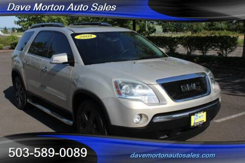2008 GMC Acadia for sale at Dave Morton Auto Sales in Salem OR