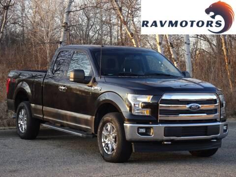 2015 Ford F-150 for sale at RAVMOTORS in Burnsville MN