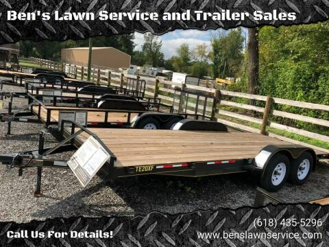 2018 Trailer Express 20' Flatbed for sale at Ben's Lawn Service and Trailer Sales in Benton IL