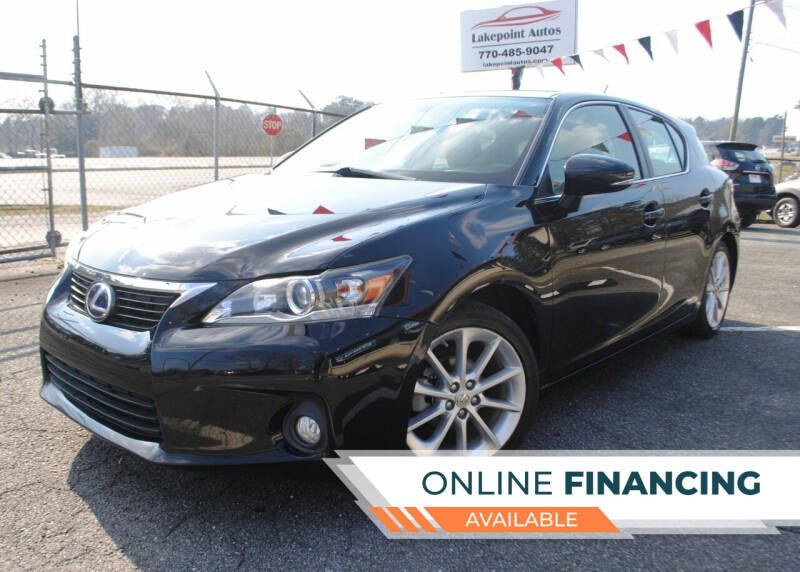 2013 Lexus CT 200h for sale at Lakepoint Autos in Cartersville GA