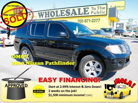 2010 Nissan Pathfinder for sale at The Car Company in Las Vegas NV