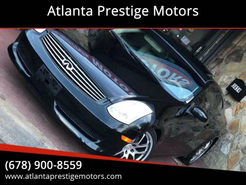 2007 Infiniti G35 for sale at Atlanta Prestige Motors in Decatur GA