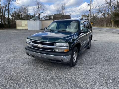 2002 Chevrolet Tahoe for sale at Bricktown Motors in Brick NJ