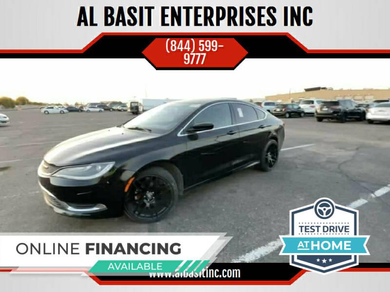 2015 Chrysler 200 for sale at AL BASIT ENTERPRISES INC in Riverside CA