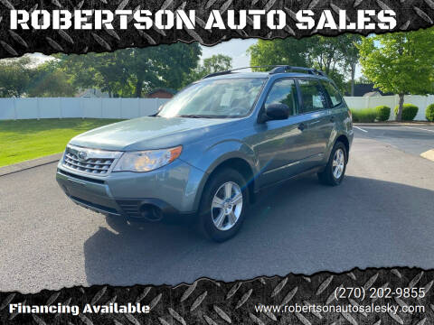 2011 Subaru Forester for sale at ROBERTSON AUTO SALES in Bowling Green KY